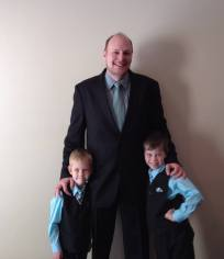 My son Jonathan with his 2 sons