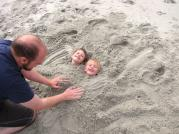 My son playing with his sons at Myrtle Beach