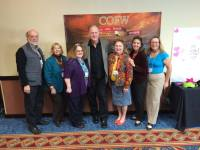 Tamera Lynn Kraft, Catherine Castle, Carole Brown and others with James Scott Bell at COFW Conference