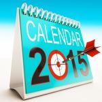 2015 Calendar Target Shows Year Organizer