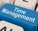 Time Management Key Shows Organizing Schedule Online