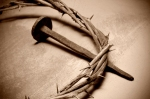 Jesus Christ crown of thorns and nail