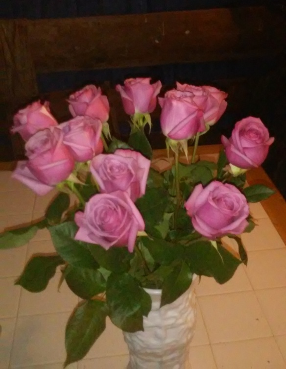 roses from danny after my surgery 6 25 2916