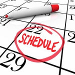 Schedule Word Circled on Calendar Appointment Reminder