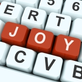 Joy Key Shows Fun Or Happiness