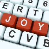 Joy Key Shows Fun Or Happiness