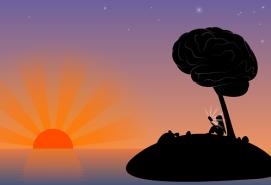 desert island sunset free