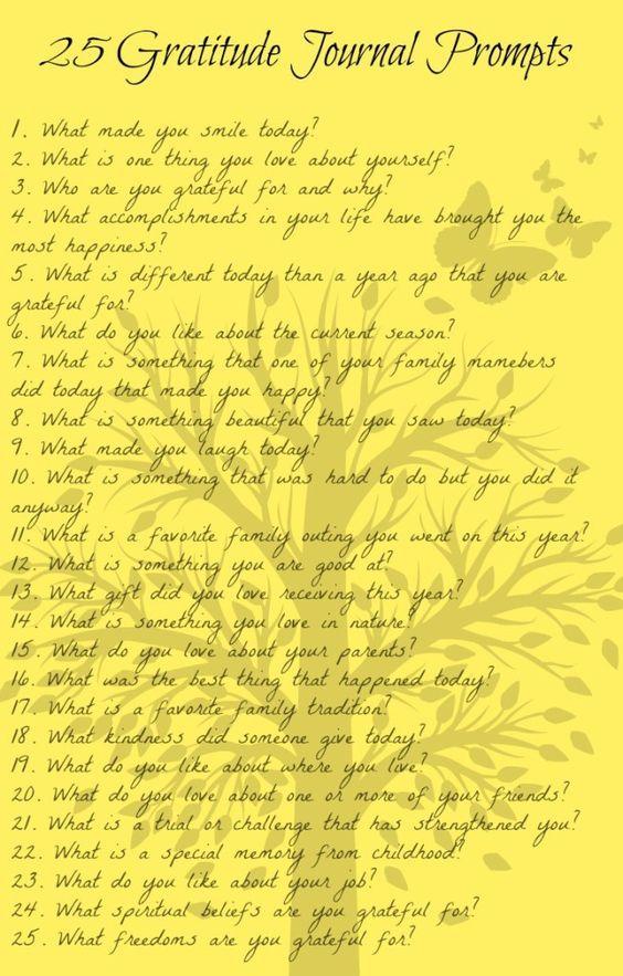 list of gratitudes